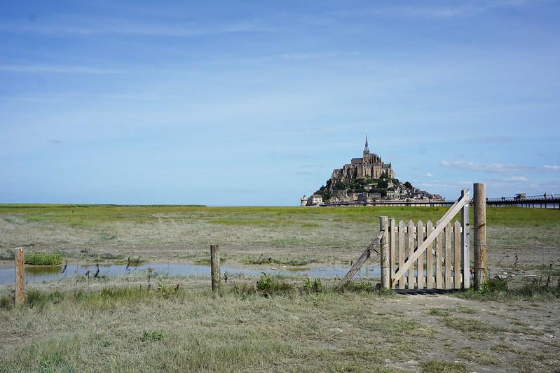 Mont Saint Michel behind a gate