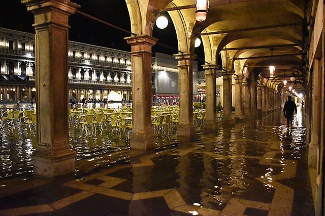 Piazza San Marcos flooded