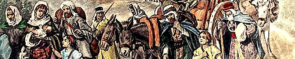 Странствие народа Божия по пустынному Синаю.