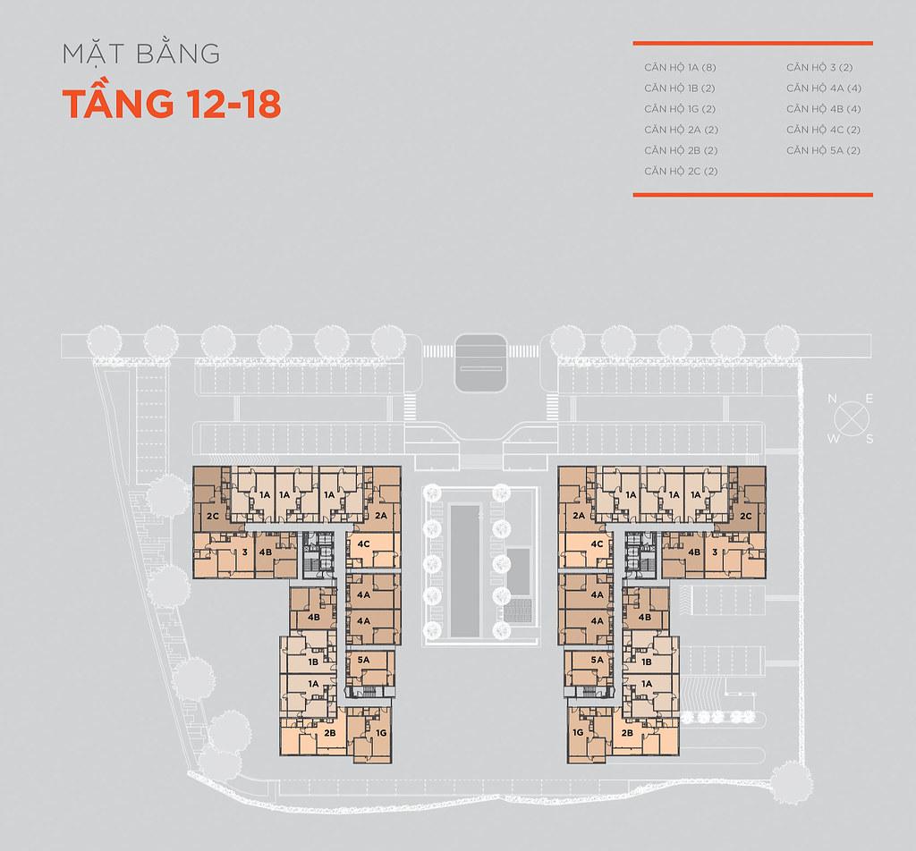 Mặt bằng tầng và thiết kế căn hộ Hausneo 34