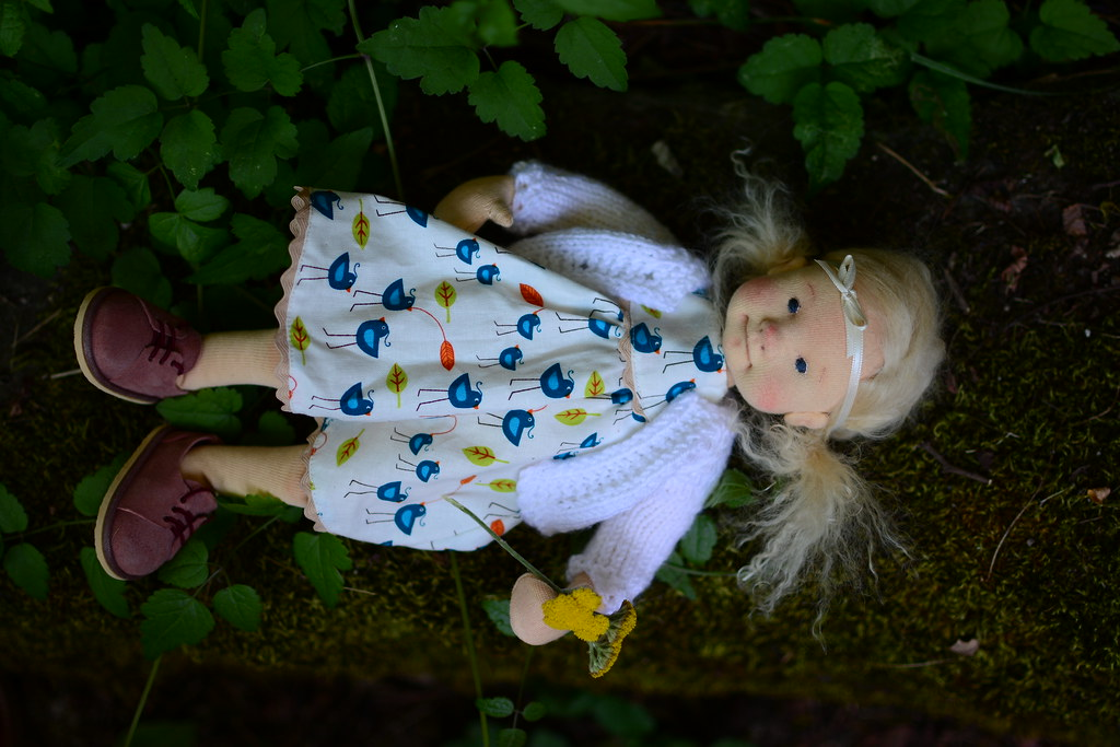 OOAK Natural fiber art doll Ida