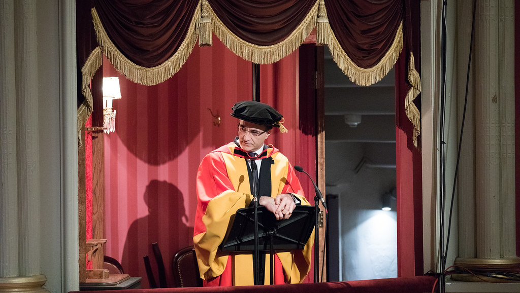 Professor Noel Fitzpatrick giving advice to our students graduating