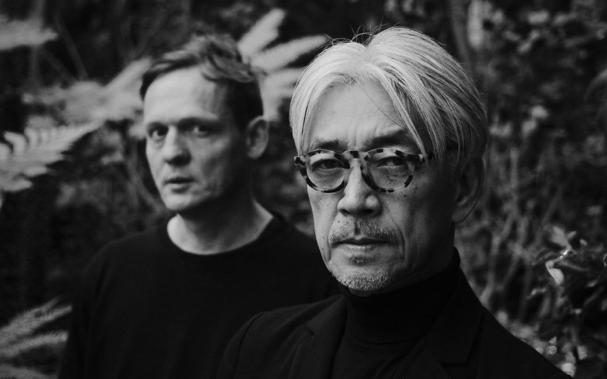 Alva Noto and Ryuichi Sakamoto at the Barbican Centre
