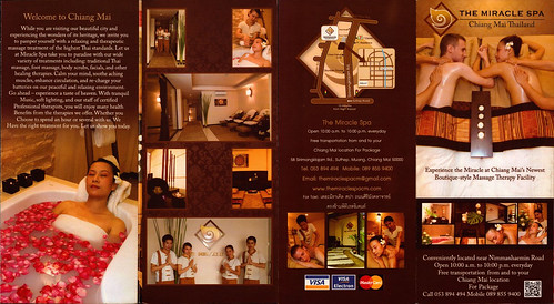 Brochure The Miracle Spa Chiang Mai Thailand 1