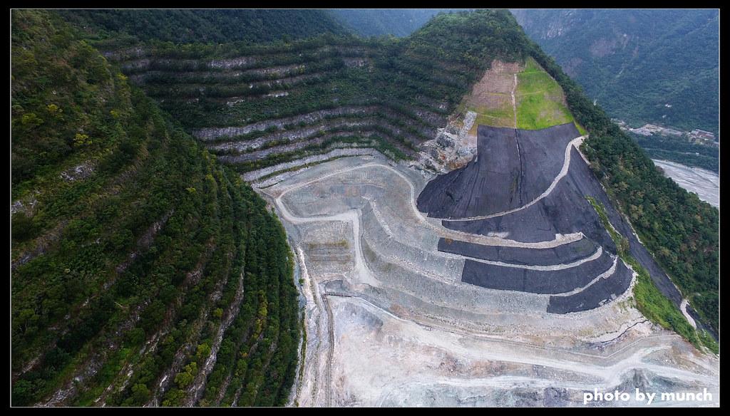 亞泥新城礦區空拍。網友Munch提供。