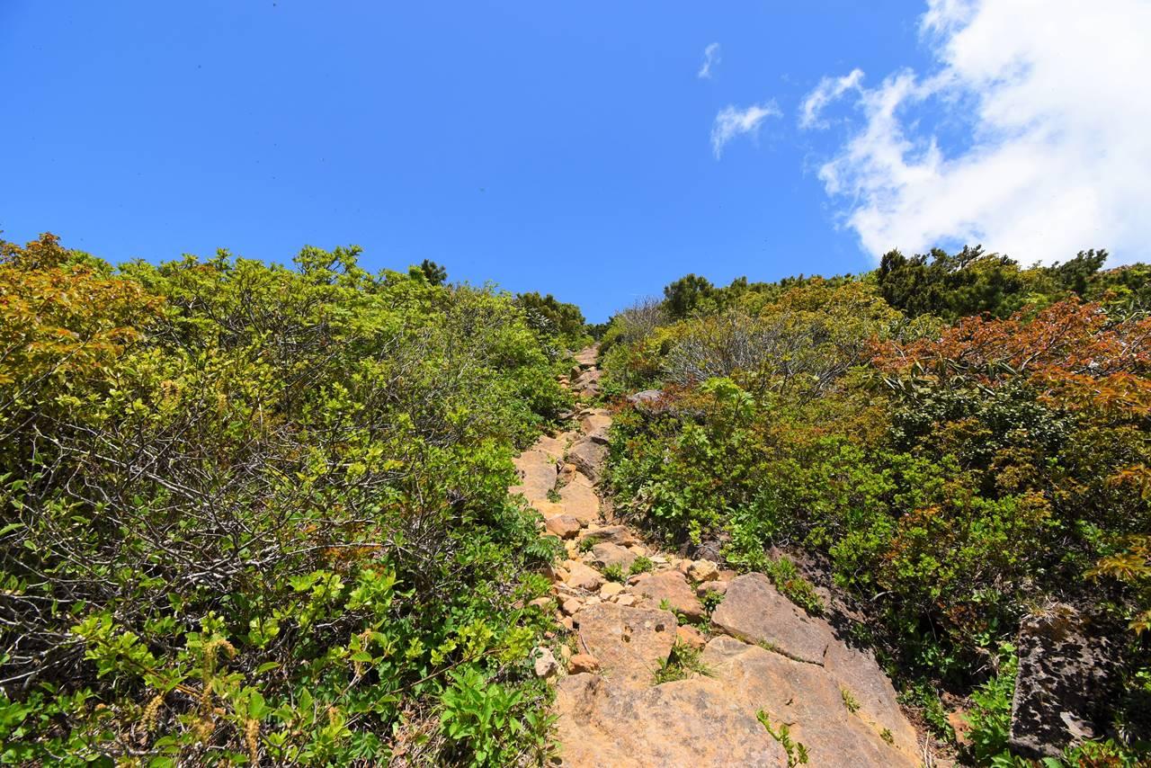 刈田峠から刈田岳までの登山道
