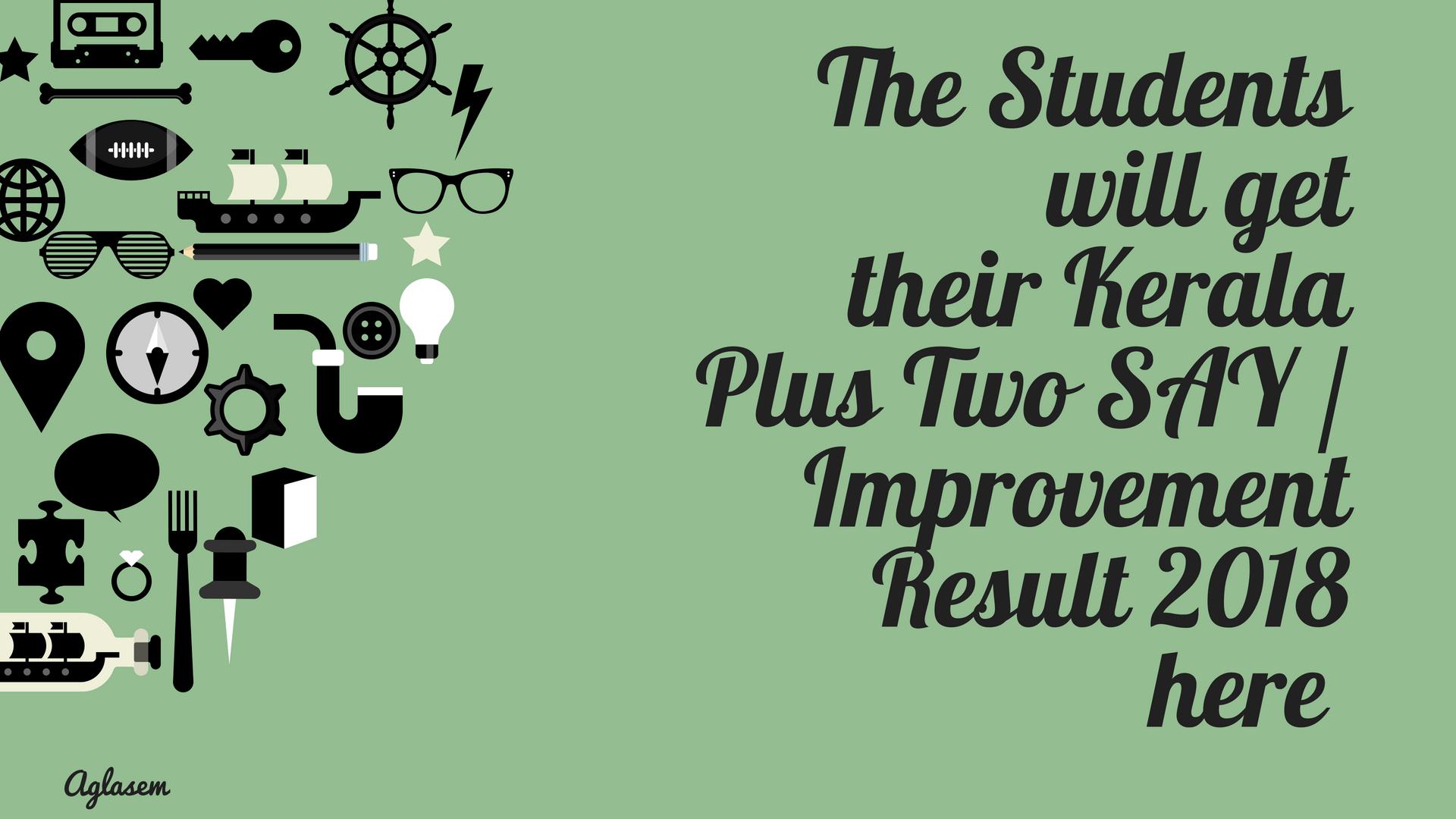 Kerala Plus Two SAY / Improvement Result 2018