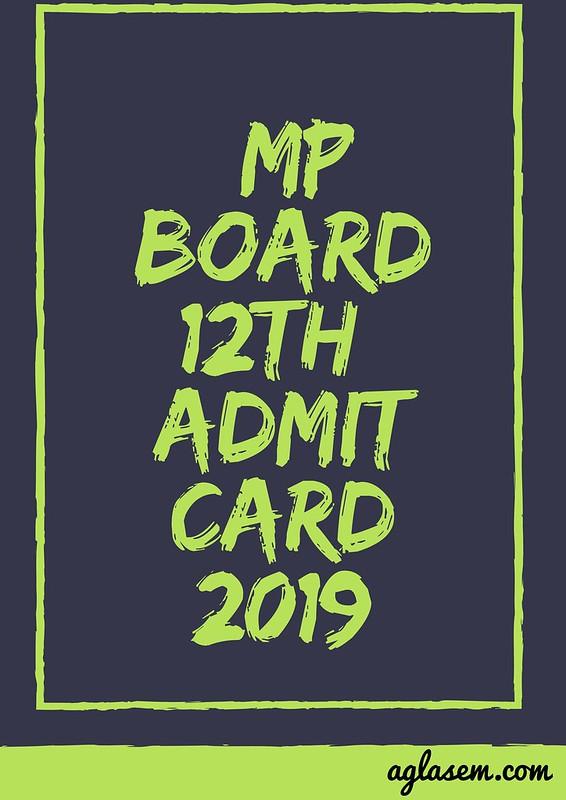 MP Board 12th Admit Card 2019