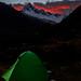 Quitaraju and Alpamayo in sunset