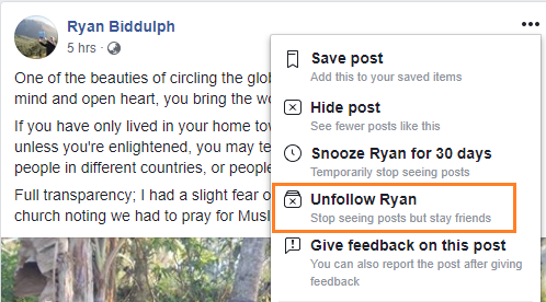 How to Hide Stories from Friends, Pages and Groups in Facebook News Feed 1