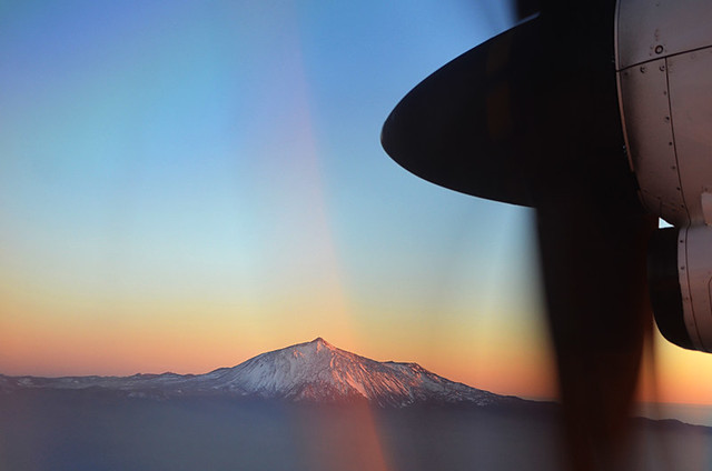 Teide from Binter plane, Tenerife