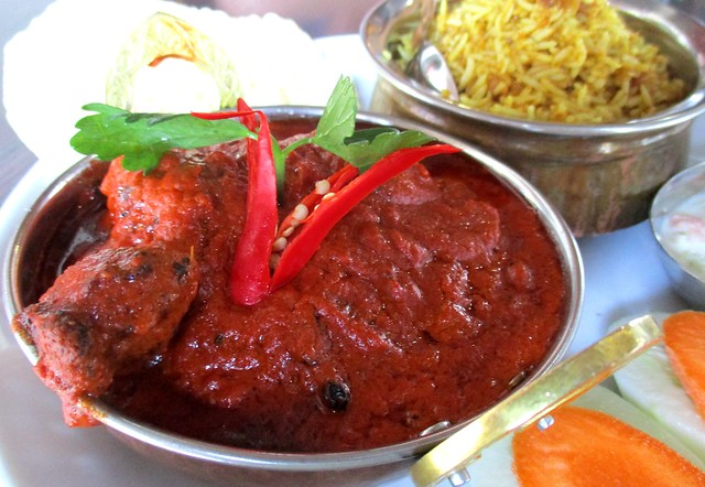 The Cafe IND butter curry chicken with biryani rice 2
