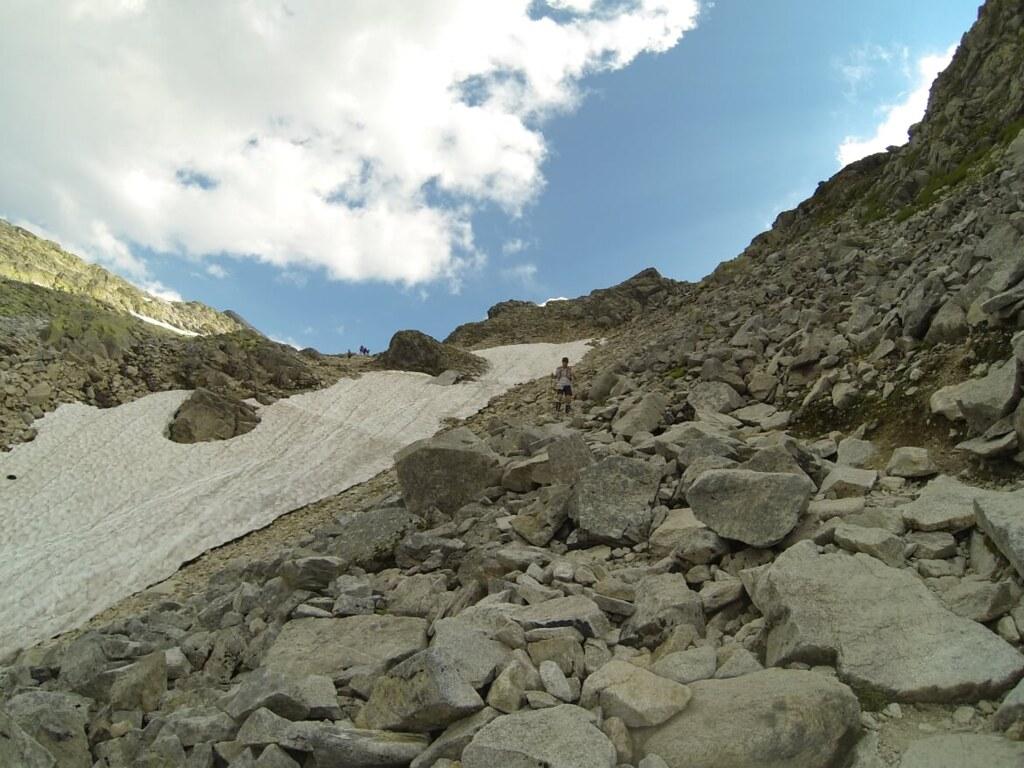 Descending Kalser Tauern. Typical Grossglockner Ultra Trail field!