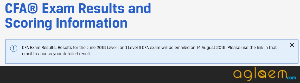 CFA Exam Results For June 2018
