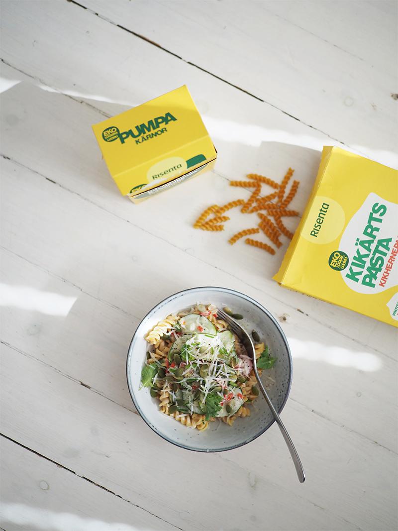 Vegaaninen gluteeniton pasta