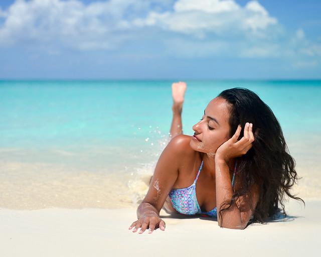 Orillas de Playa Paraíso, una de las playas más espectaculares de Cuba