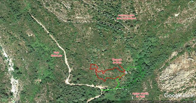 Secteur Mela/Lora et bergerie avec Google Earth