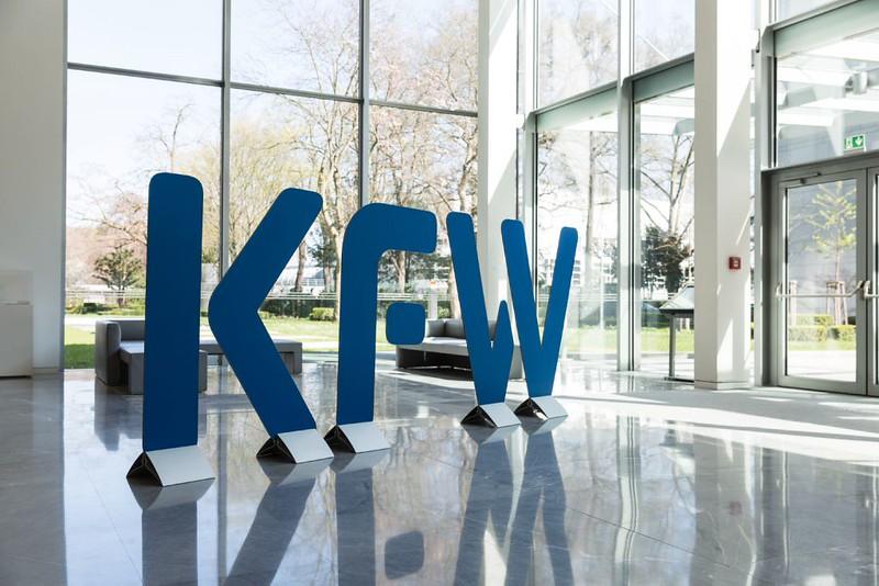 德國復興信貸銀行(KfW)位於法蘭克福的總公司。圖片來源:KfW-Bildarchiv / Thorsten Futh