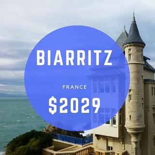 Biarritz, France $2029 mo