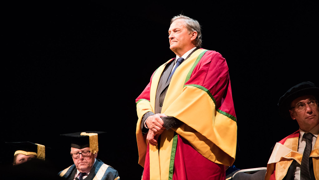 Gary Mabbutt MBE who received his University Honorary Degree on Thursday
