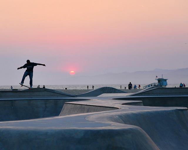 Skate Park de Venice Beach en Los Angeles