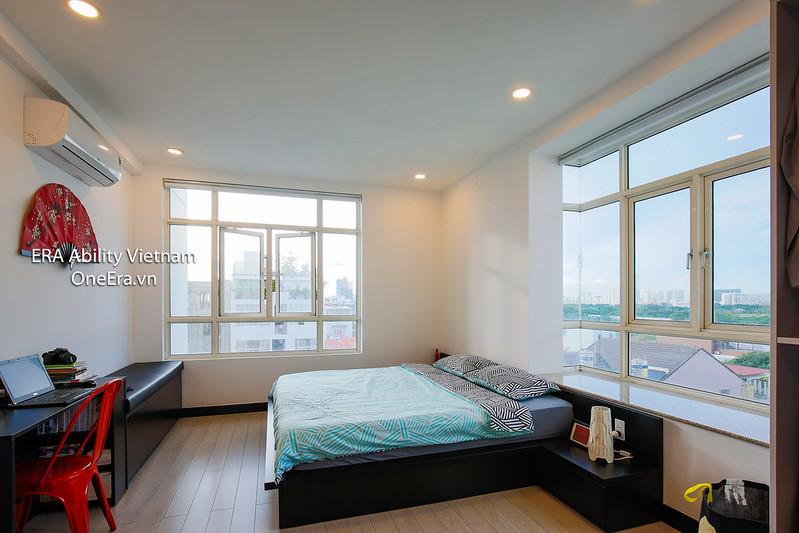 phòng ngủ căn góc 2 view căn hộ