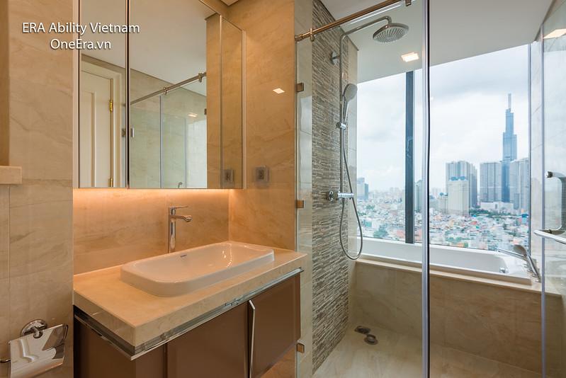 Phòng tắm view quá đẹp