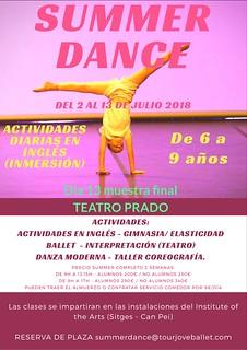 Summer Dance 2018 - actividades en inglés