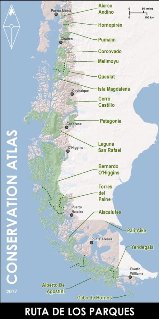 智利國家公園之路。圖片來源:Conservation Atlas