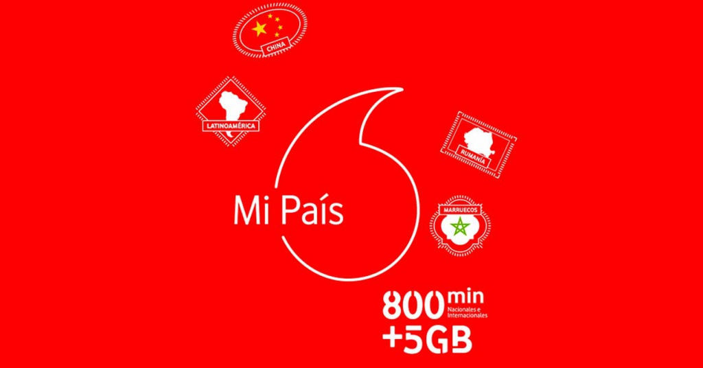 Vodafone presenta Mi País, nueva tarifa prepago con 800 minutos, 57 países y hasta 7GB