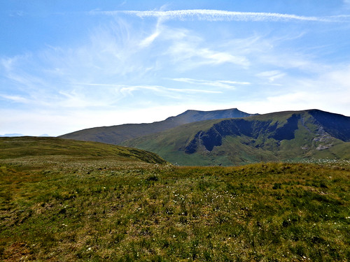 On Souther Fell, Blencathra in the background