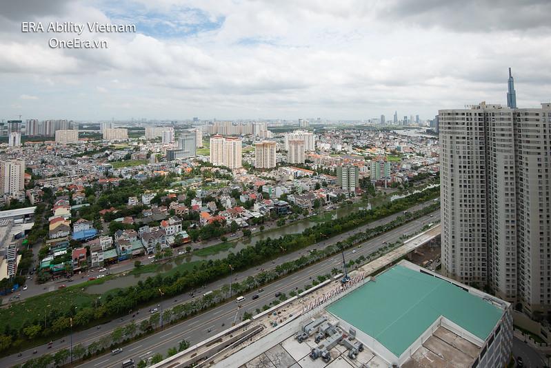 Căn góc Masteri Thảo Điền tầng cao cho thuê dài hạn view