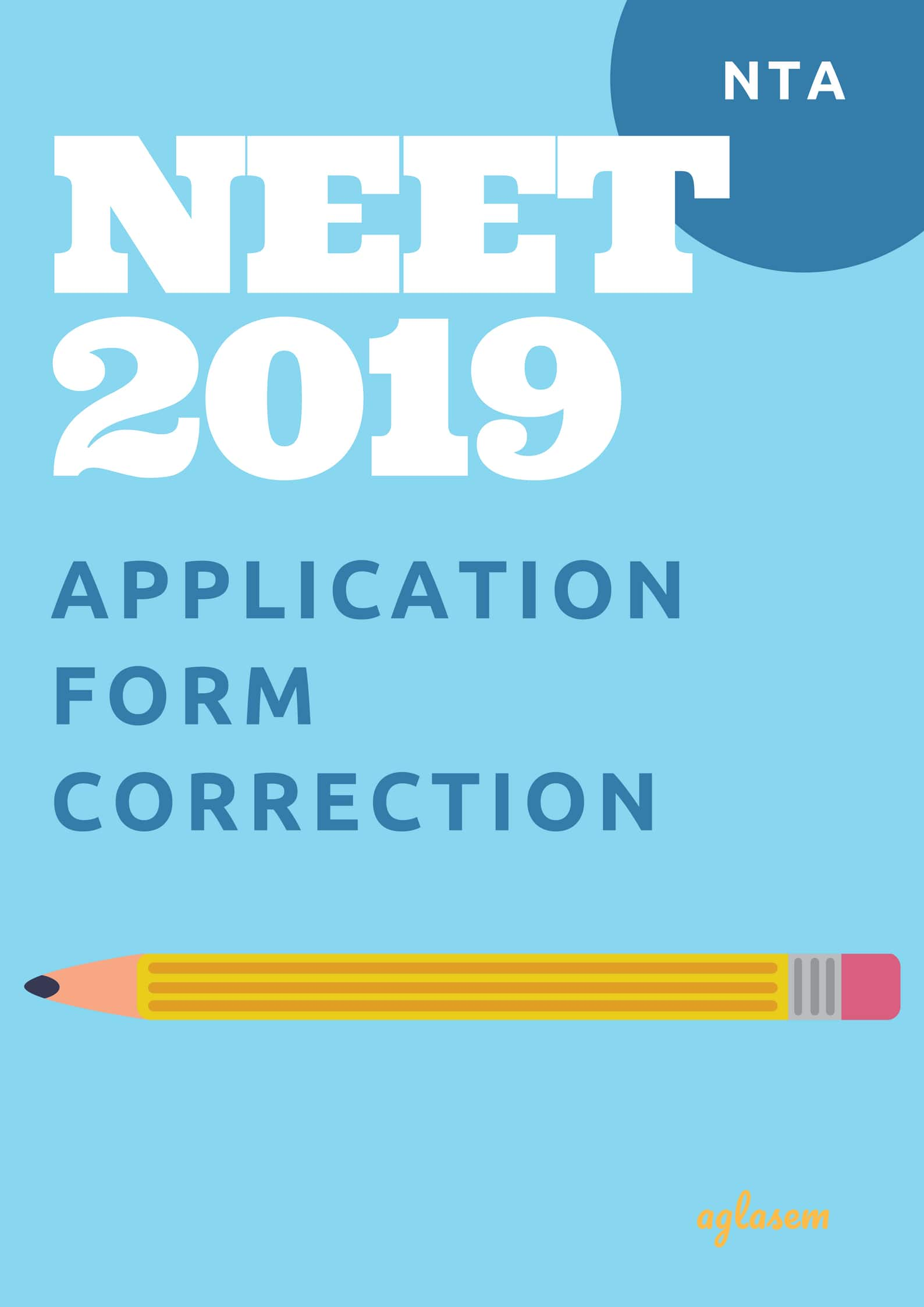 NEET 2019 Application Form Correction
