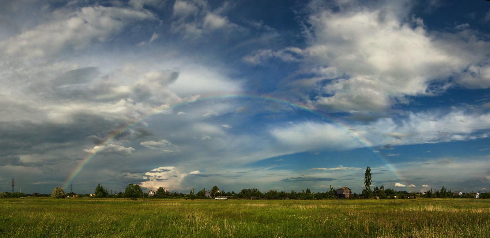 фотограф Челябинск панорамное фото радуга