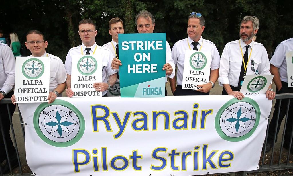 愛爾蘭廉航瑞安航空機師將發起罷工。(圖片來源: Brian Lawless/PA)