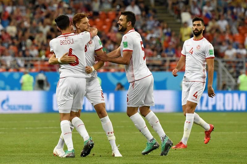 突尼西亞拿到40年來世界盃首勝。(AFP授權)