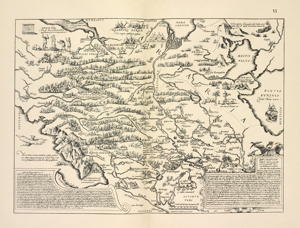 A map of Russia by Antonii Vid 1537