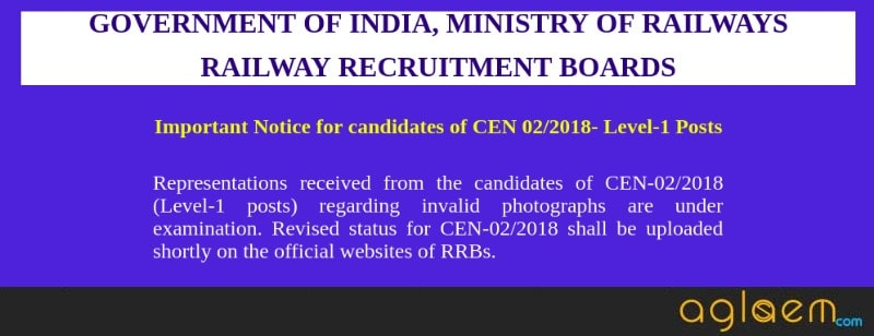 RRB Group D Revised Application Status 2018