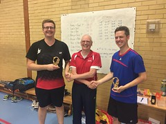 Pittville Badminton Club Handicap Tournament 2018 Winners - Alex and Harvey