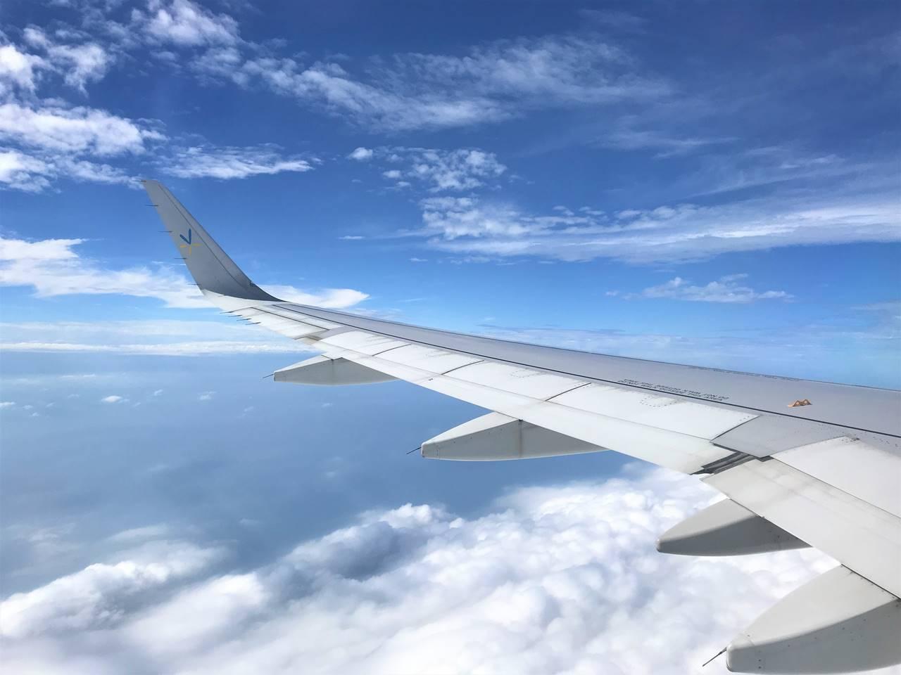 台湾~日本 飛行機