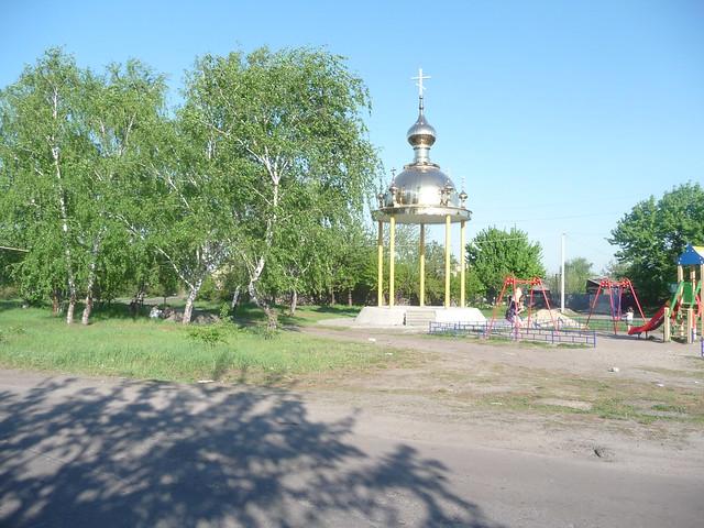 Памятный знак на месте старого храма
