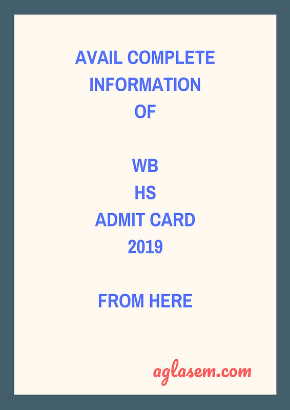 WB HS Admit Card 2019 (Released) | WBCHSE Admit Card 2019- Check Here