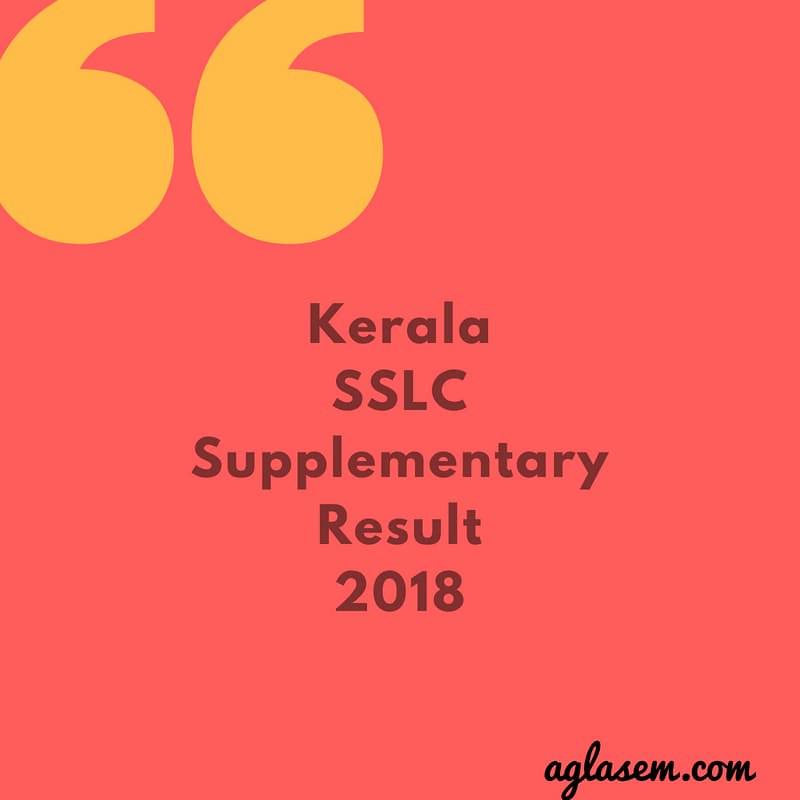 Kerala SSLC Supplementary Result 2018
