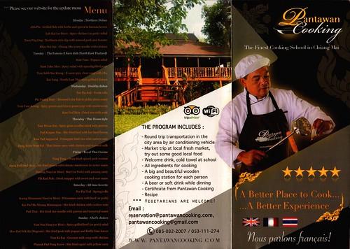 Brochure Pantawan Cooking Chiang Mai Thailand 1