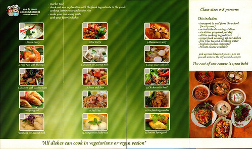 Brochure Me and Mom Cooking School Chiang Mai Thailand 2
