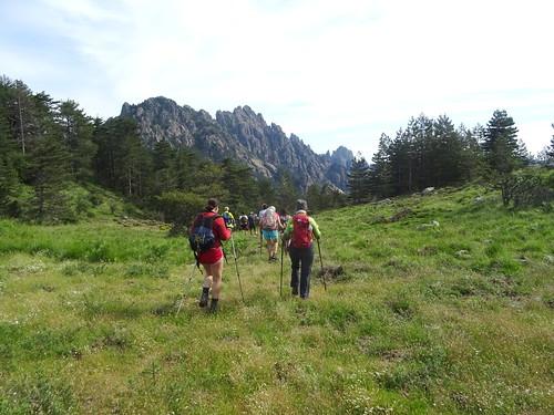 Bocca di Castedducciu : départ pour la descente du versant Nord