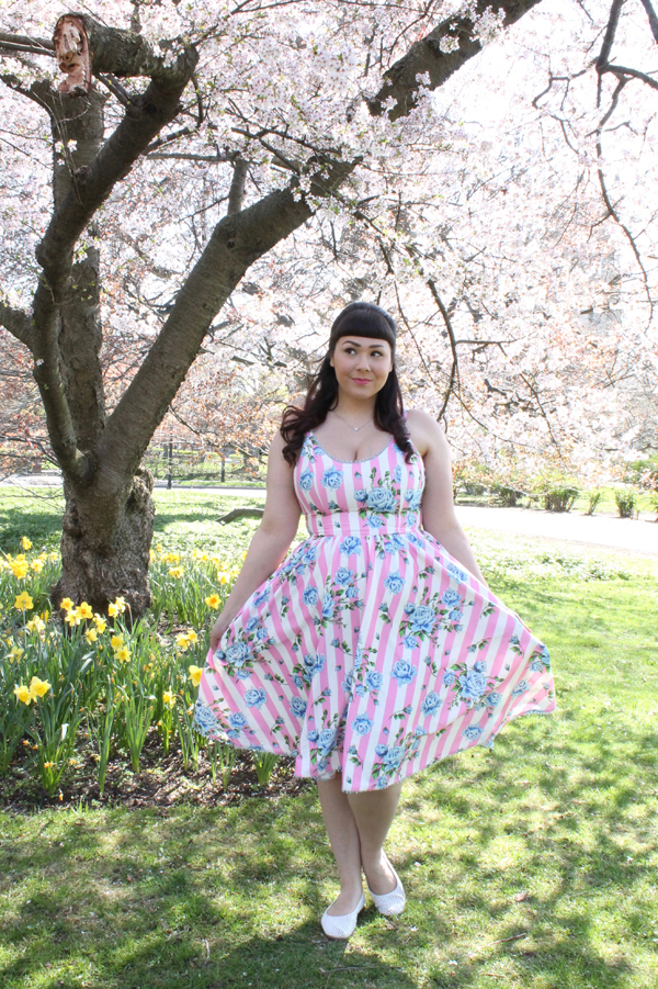 floral dress vintage retro