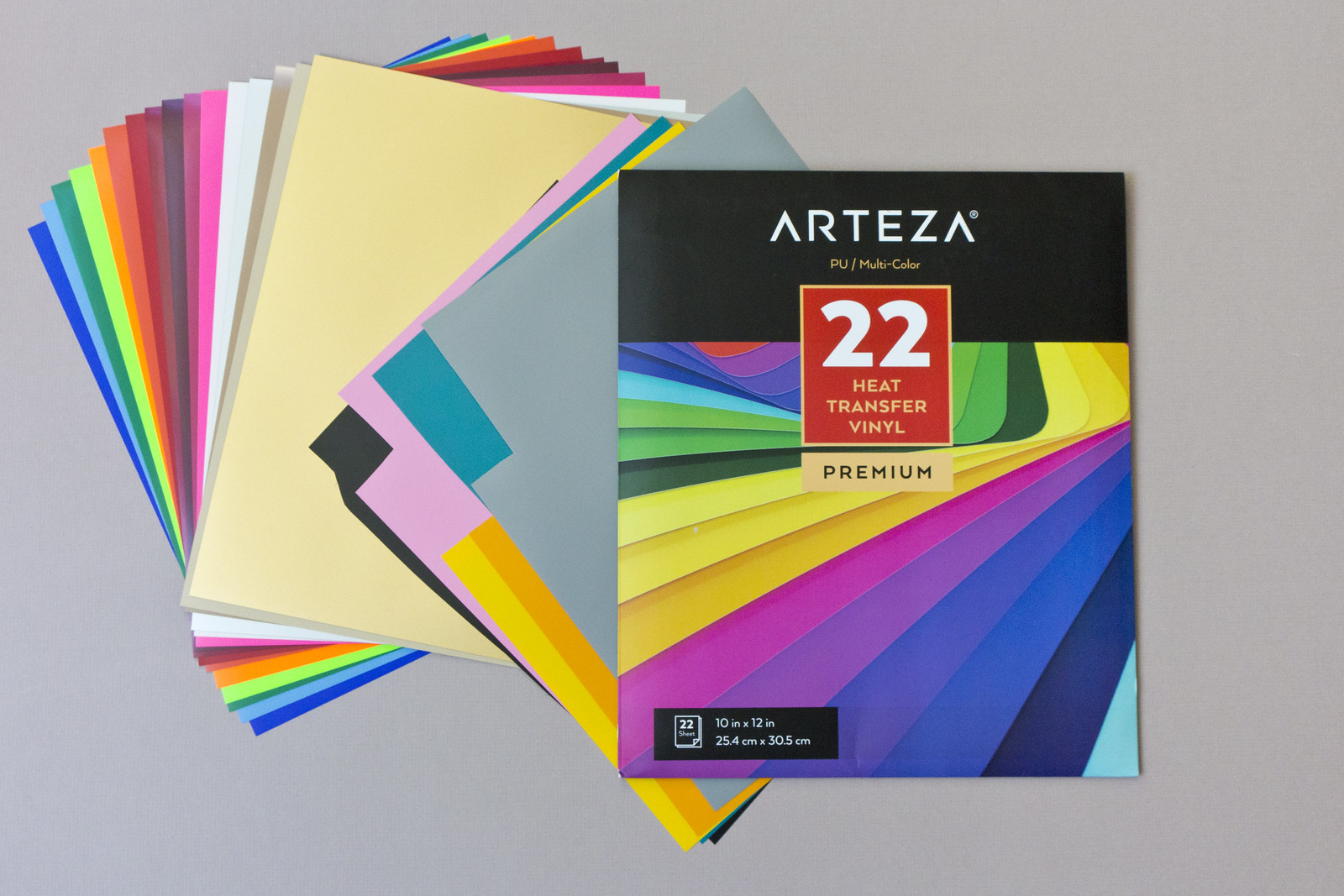 22 sheets of heat transfer vinyl