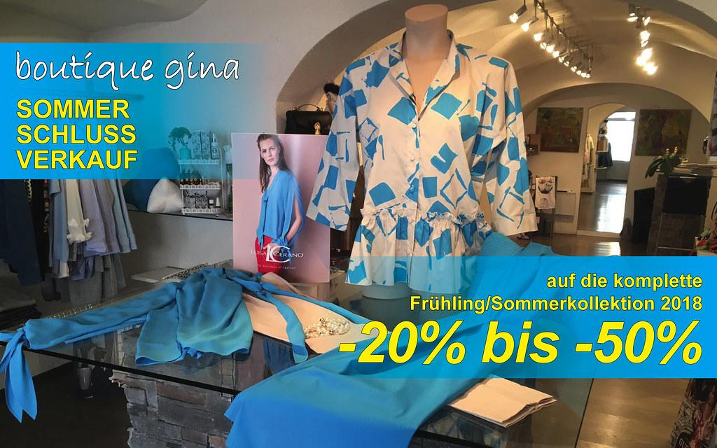 Sommer-Schlussverkauf in der Boutique Gina!