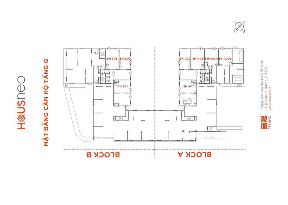Mặt bằng tầng và thiết kế căn hộ Hausneo 35